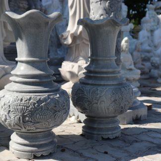 Điêu khắc Bình Hoa Đá đẹp